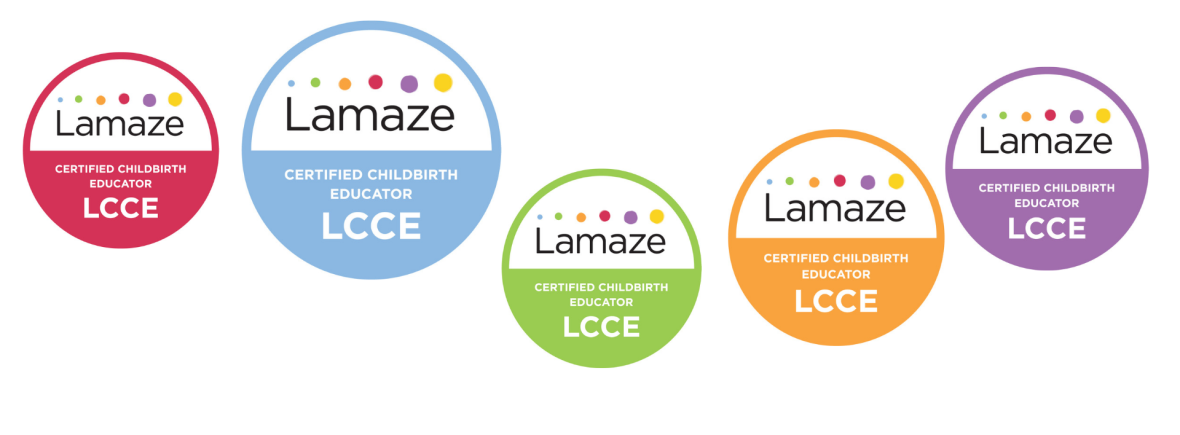Lamaze Certified childbirth Educator seals